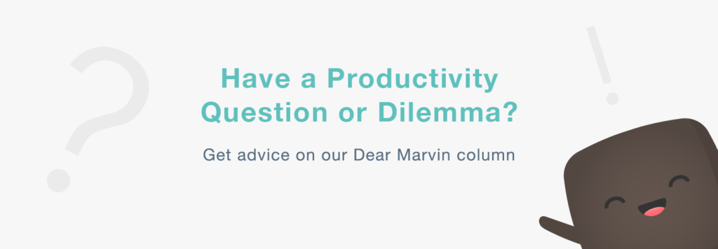 Dear Marvin - ask Marvin for free productivity advice