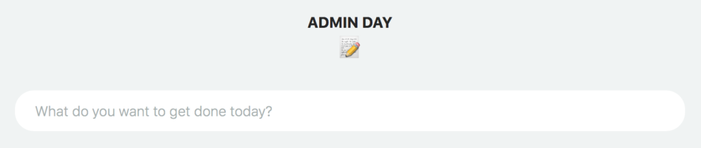 Themed days productivity strategy
