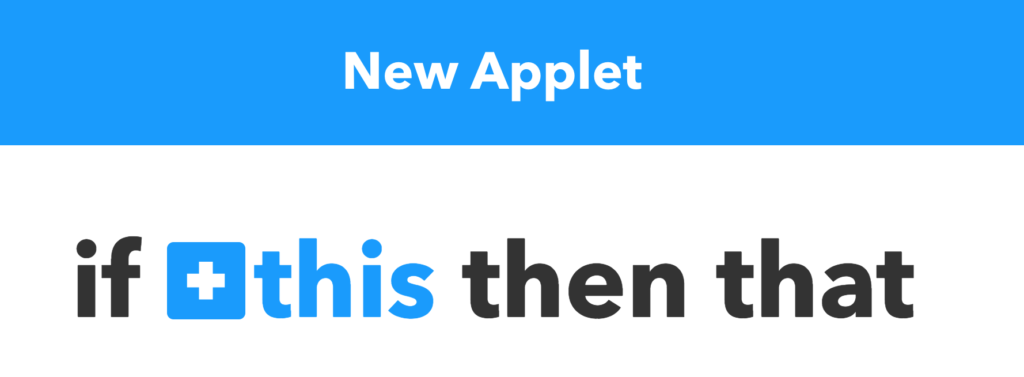 Setting up the trigger in IFTTT