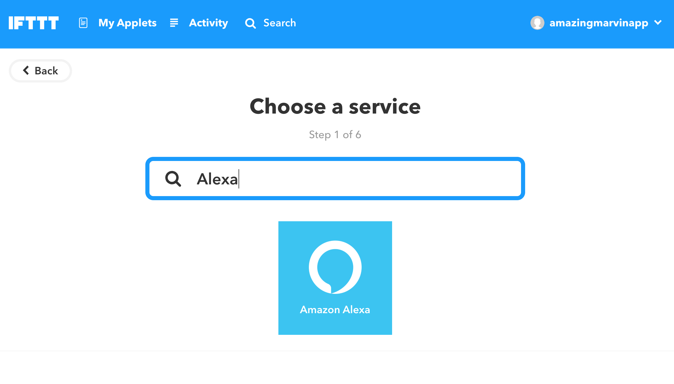 Find the Alexa app and connect your account